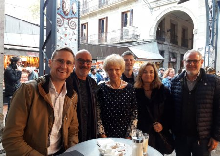 The Melbourne Councillor for Trade visits Boqueria market
