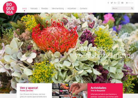 Updating of the Boqueria website